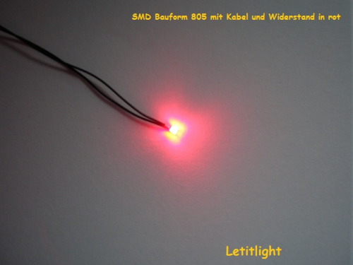 LED in red 805 assembled with micro fiber cables,Cheap