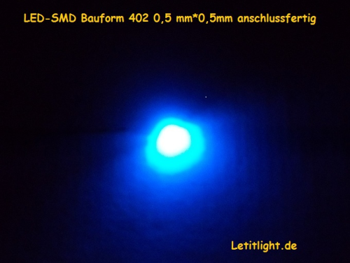 Micro SMD LEDs 402 blue very small