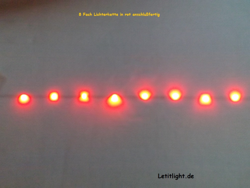rote LED Lichterkette (8fach)