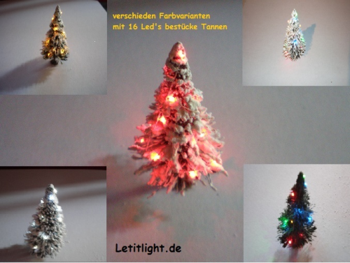 LED Weihnachtset, green Christmas tree, Christmas Lights 4 colors and warm white