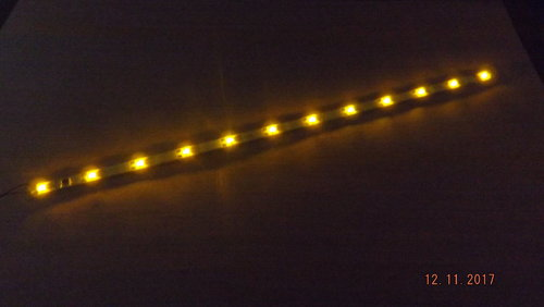 LED Waggonbeleuchtung gelb 200mm