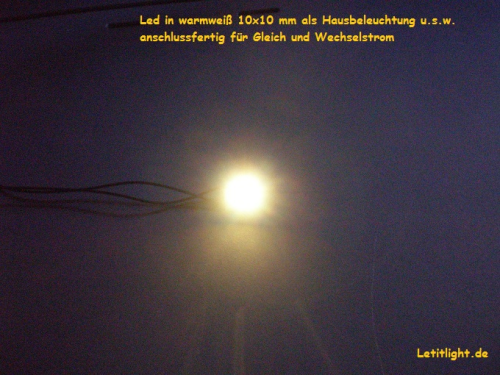Nr.9 LED-Hausbeleuchtung in warmweiß