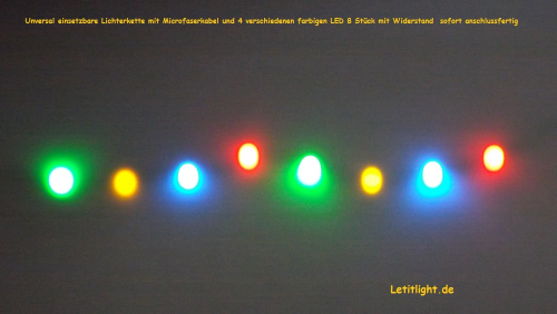 Multicolored LED String Lights (8-fold)