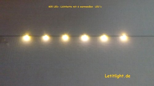 Warm Wit LED Kerstverlichting (8x)