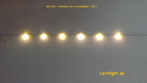 Warmweiße LED Lichterkette (8 fach)
