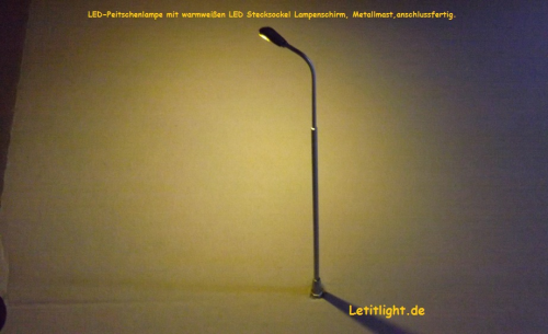 NR 10 LED-lamp metalen zweep